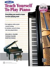 Alfred's Teach Yourself to Play Piano (Book/Audio)