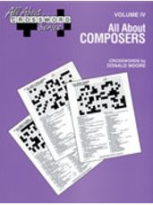 All About ... Crossword Series, Volume IV -- All About Composers